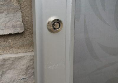 Locked Outdoor Poster Case - Closeup